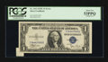 Error Notes:Attached Tabs, Fr. 1612 $1 1935C Silver Certificate. PCGS About New 53PPQ.. ...