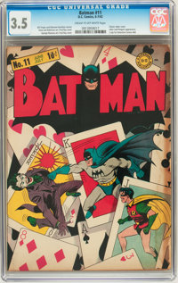 Batman #11 (DC, 1942) CGC VG- 3.5 Cream to off-white pages