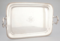 AN AMERICAN TWO-HANDLED RECTANGULAR TRAY Gorham Manufacturing Co., Providence, Rhode Island, circa 1907 Marks: