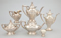 Silver Holloware, American:Tea Sets, AN AMERICAN SILVER TEA, COFFEE AND CHOCOLATE SERVICE WITH CUPS FOR TWELVE. Reed & Barton, Taunton, Massachusetts, circa 1907... (Total: 30 Items)