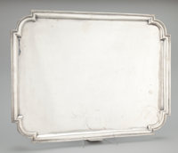 AN ENGLISH SILVER RECTANGULAR PLATEAU Crichton Brothers, London, England, circa 1935-1936 Marks: (lion passant