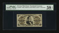 Fractional Currency:Third Issue, Fr. 1295 25¢ Third Issue PMG Choice About Unc 58 EPQ.. ...