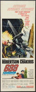 "Movie Posters:War, 633 Squadron Lot (United Artists, 1964). Inserts (3) (14"" X 36"").War.. ..."