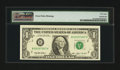 Error Notes:Blank Reverse (100%), Fr. 1918-B $1 1993 Federal Reserve Note. Choice About Uncirculated 58.. ...