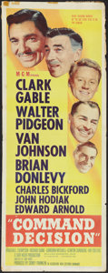 "Movie Posters:War, Command Decision (MGM, 1948). Insert (14"" X 36""). War.. ..."