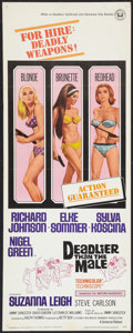 """Movie Posters:Bad Girl, Deadlier Than the Male Lot (Universal, 1967). Inserts (2) (14"""" X36""""). Bad Girl.. ... (Total: 2 Items)"""