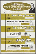 "Movie Posters:Documentary, Walt Disney's True-Life Adventures (Buena Vista, R-1964). One Sheet (27"" X 41""). Documentary.. ..."