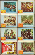 """Movie Posters:Documentary, Masters of the Congo Jungle (20th Century Fox, 1960). Lobby Card Set of 8 (11"""" X 14""""). Documentary.. ... (Total: 8 Items)"""