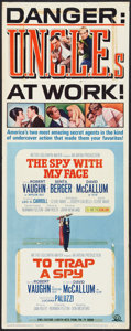 """Movie Posters:Action, The Spy With My Face/To Trap a Spy Lot (MGM, 1965). Inserts (3) (14"""" X 36""""). Action.. ... (Total: 3 Items)"""