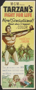 """Movie Posters:Adventure, Tarzan's Fight for Life Lot (MGM, 1958). Inserts (2) (14"""" X 36"""").Adventure.. ... (Total: 2 Items)"""