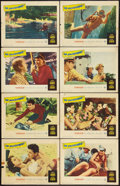 "Movie Posters:War, Up Periscope (Warner Brothers, 1959). Lobby Card Set of 8 (11"" X14""). War.. ... (Total: 8 Items)"