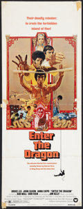 "Movie Posters:Action, Enter the Dragon (Warner Brothers, 1973). Insert (14"" X 36"").Action.. ..."