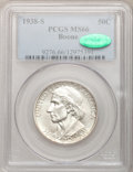 Commemorative Silver: , 1938-S 50C Boone MS66 PCGS. CAC. PCGS Population (119/31). NGCCensus: (92/31). Mintage: 2,100. Numismedia Wsl. Price for p...