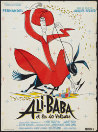 """Ali Baba and the Forty Thieves (Cinedis, 1954). French Affiche (22"""" X 30""""). Comedy"""