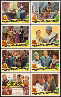 "Rainbow on the River (Screencraft, R-1945). Lobby Card Set of 8 (11"" X 14""). Musical. Reissued as It Happened..."
