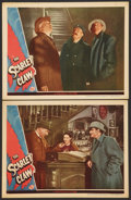 """Movie Posters:Mystery, The Scarlet Claw (Universal, 1944). Lobby Cards (2) (11"""" X 14"""").Mystery.. ... (Total: 2 Items)"""
