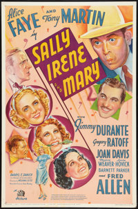 """Sally, Irene and Mary (20th Century Fox, 1938). One Sheet (27"""" X 41"""") Style A. Comedy"""