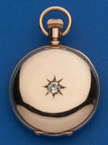 Timepieces:Pocket (post 1900), Waltham 14k Gold 6 Size Hunters Case. ...