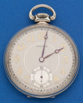Timepieces:Pocket (post 1900), Waltham 14k White Gold 17 Jewel 12 Size. ...