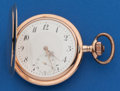 Timepieces:Pocket (post 1900), Swiss 53 mm 14k Gold Hunters Case. ...