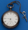 Timepieces:Pocket (pre 1900) , Illinois 18 Size Coin Silver Key Wind. ...