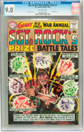 Silver Age (1956-1969):War, Sgt. Rock's Prize Battle Tales Annual #1 (DC, 1964) CGC VF/NM 9.0 Off-white pages....