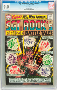Sgt. Rock's Prize Battle Tales Annual #1 (DC, 1964) CGC VF/NM 9.0 Off-white pages