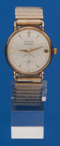 Timepieces:Wristwatch, LeCoultre Automatic, 14k Gold Master Mariner. ...