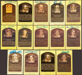 Autographs:Post Cards, Baseball Hall Of Fame Signed Gold Plaques Lot Of 14....