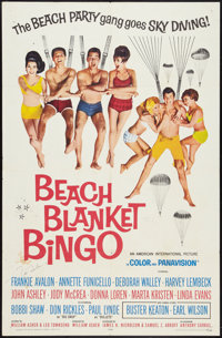 "Beach Blanket Bingo (American International, 1965). Autographed One Sheet (27"" X 41""). Comedy"