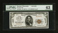 National Bank Notes:Wisconsin, Durand, WI - $5 1929 Ty. 1 The First NB Ch. # 13529. ...