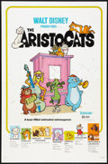 "Movie Posters:Animated, The Aristocats Lot (Buena Vista, R-1980). One Sheets (2) (27"" X41"") and Window Card (14"" X 22""). Animated.. ... (Total: 3 Items)"