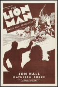 "Movie Posters:Adventure, The Lion Man (Normandy, R-1930s). One Sheet (27"" X 41"").Adventure.. ..."