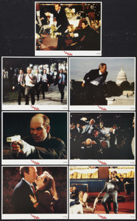 """In the Line of Fire Lot (Columbia, 1993). Lobby Cards (2) (11"""" X 14"""") and International Mini Lobby Cards (7) (..."""