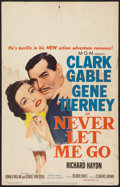 "Movie Posters:Adventure, Never Let Me Go (MGM, 1953). Window Card (14"" X 22""). Adventure....."