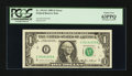 Error Notes:Ink Smears, Fr. 1913-E $1 1985 Federal Reserve Note. PCGS Choice New 63PPQ.....