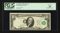 Error Notes:Shifted Third Printing, Fr. 2018-G $10 1969 Federal Reserve Note. PCGS Very Fine 30.. ...
