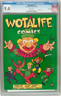 Golden Age (1938-1955):Funny Animal, Wotalife Comics #3 Vancouver pedigree (Fox, 1946) CGC NM 9.4 Whitepages....