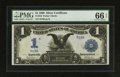 Large Size:Silver Certificates, Fr. 232 $1 1899 Silver Certificate PMG Gem Uncirculated 66 EPQ.. ...