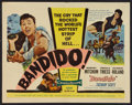 """Movie Posters:Action, Bandido (United Artists, 1956). Half Sheets (2) (22"""" X 28"""") A and B Styles, and Lobby Card Set of 8 (11"""" X 14""""). Action.. ... (Total: 10 Items)"""