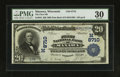 National Bank Notes:Wisconsin, Manawa, WI - $20 1902 Date Back Fr. 644 The First NB Ch. # 8710. ...