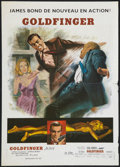 "Movie Posters:James Bond, Goldfinger (United Artists, R-1970s). French Petite (17"" X 24"").James Bond.. ..."