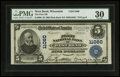 National Bank Notes:Wisconsin, West Bend, WI - $5 1902 Plain Back Fr. 606 The First NB Ch. # 11060. ...