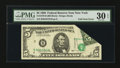 Error Notes:Foldovers, Fr. 1979-B $5 1988 Federal Reserve Note. PMG Very Fine 30 EPQ.. ...