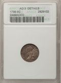 Early Half Dimes, 1795 H10C --Damaged--ANACS. AG3 Details. NGC Census: (1/329). PCGSPopulation (6/501). Mintage: 78,600. Numismedia Wsl. Pric...