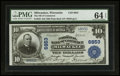 National Bank Notes:Wisconsin, Milwaukee, WI - $10 1902 Plain Back Fr. 632 The NB of Commerce Ch. # 6853. ...