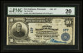 National Bank Notes:Wisconsin, Fort Atkinson, WI - $10 1902 Plain Back Fr. 624 The First NB Ch. # 157. ...