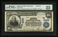 National Bank Notes:Wisconsin, Chippewa Falls, WI - $10 1902 Plain Back Fr. 630 The First NB Ch. # (M)2125. ...