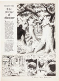 "Original Comic Art:Splash Pages, Wally Wood Wizard King ""Chapter Two the Mirror of Memory""Title Page Original Art (c. 1978)...."