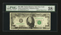 Error Notes:Ink Smears, Fr. 2077-B $20 1990 Federal Reserve Note. PMG Choice About Unc 58EPQ.. ...